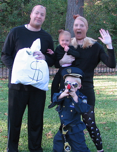 DIY Cops and Robbers costumes