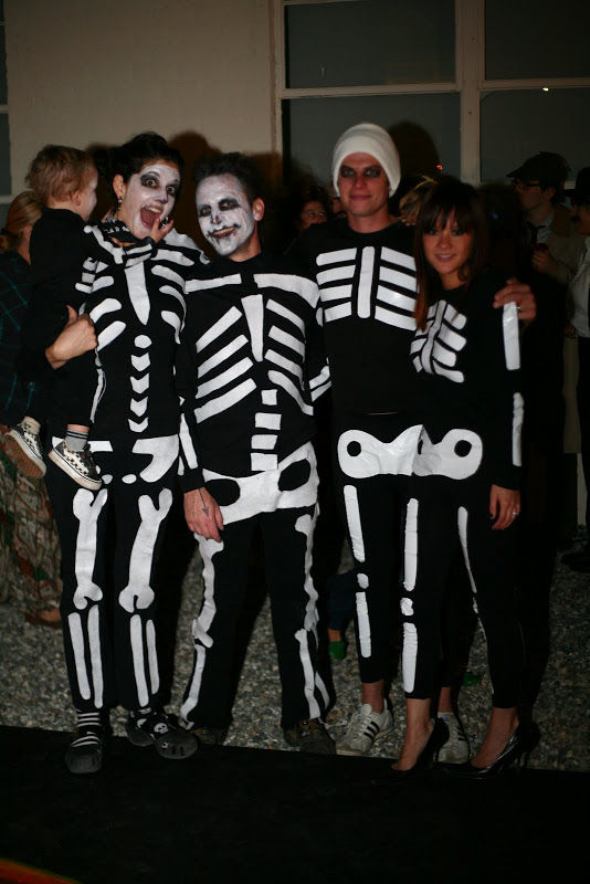 DIY adult skeleton costumes