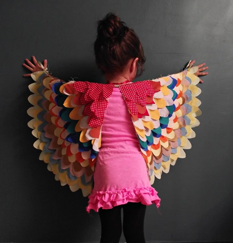 Handmade dress up wings