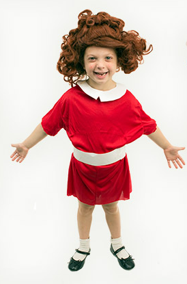Homemade little orphan Annie costume  sc 1 st  Really Awesome Costumes : annie costume toddler  - Germanpascual.Com