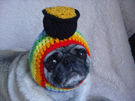 Crochet pot of gold hat