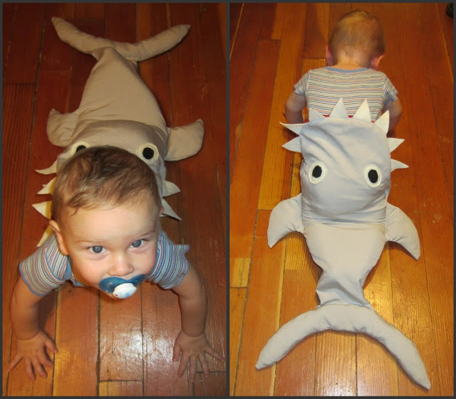 DIY shark costume  sc 1 st  Really Awesome Costumes & BABIES: DIY shark costume - Really Awesome Costumes
