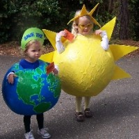 DIY Earth and Sun costumes