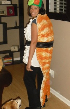 DIY Sushi costume  sc 1 st  Really Awesome Costumes & ADULTS: DIY Sushi costume - Really Awesome Costumes