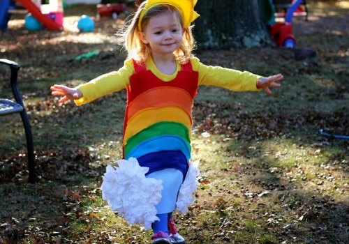 DIY rainbow costume