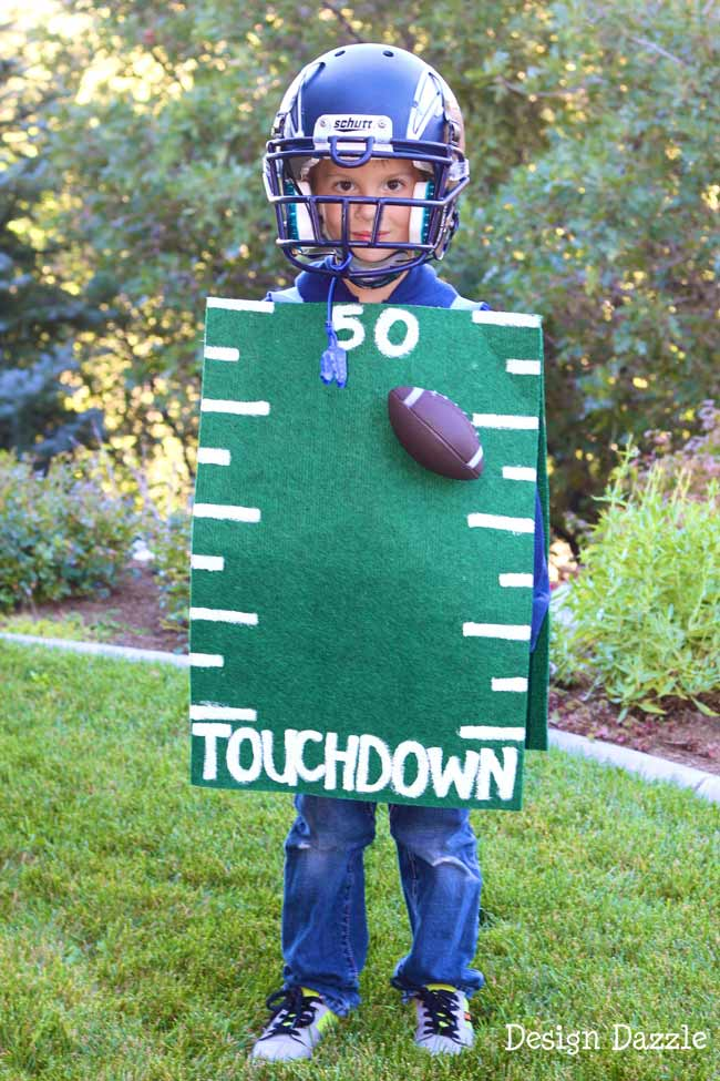 DIY football costume