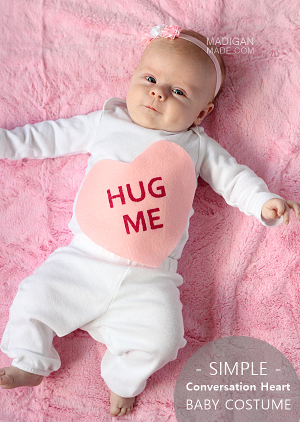 Baby Costume - Conversation Heart