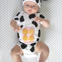 DIY baby cow costume with udder
