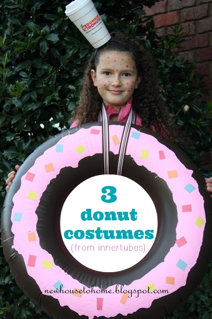 3 DIY Donut costumes made out of innertubes
