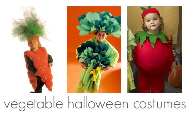 Handmade vegetable halloween costumes