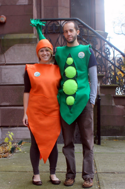 Handmade Peas and Carrots Costume
