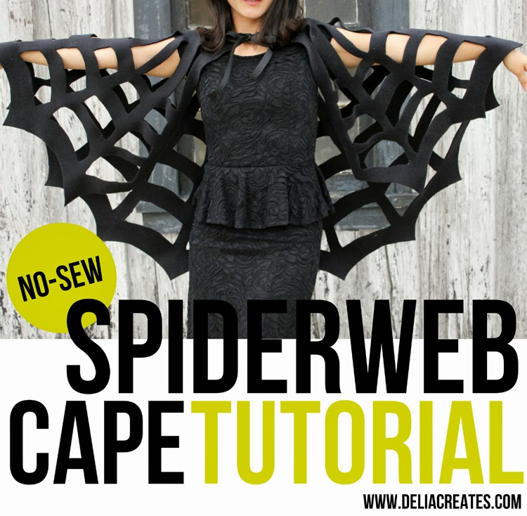 Cut out spider web cape