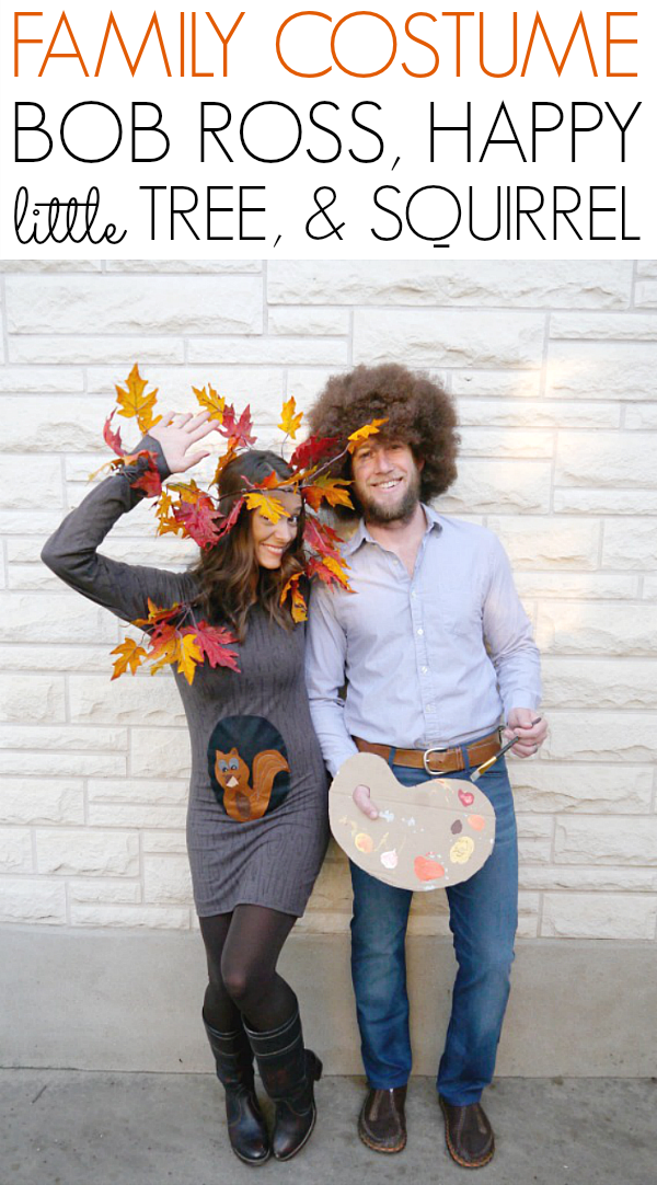 Bob Ross and Happy Tree Halloween costume