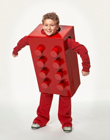DIY lego block costume