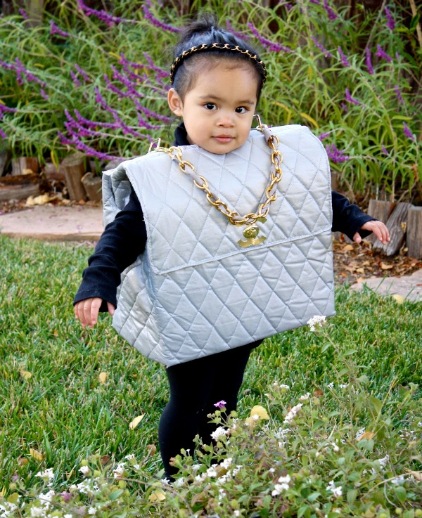 DIY Chanel purse costume