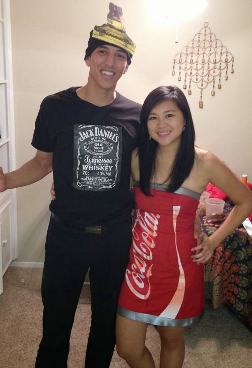 DIY Jack and Coke costume