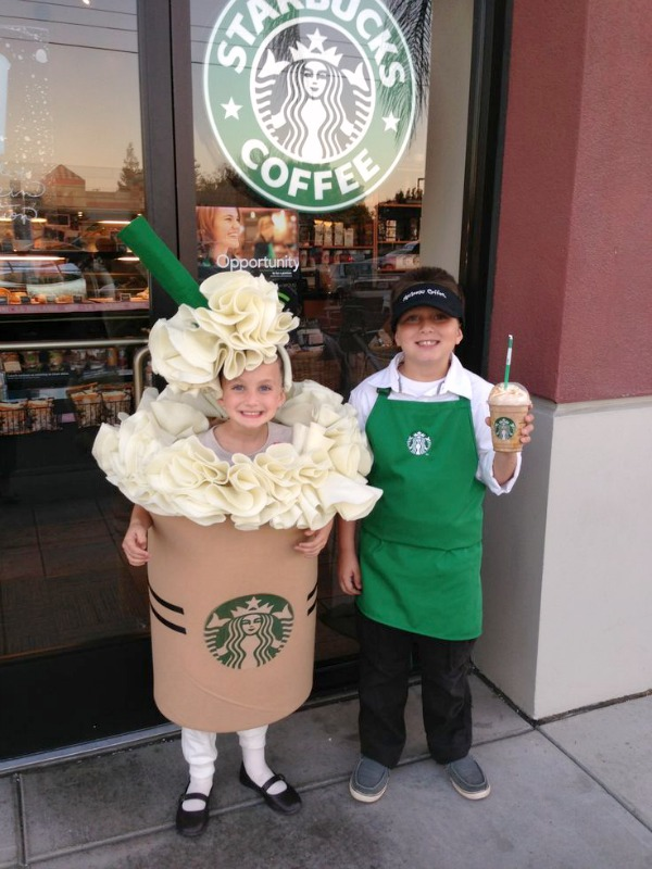 Starbucks couples costume