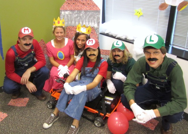 Super Mario group costumes