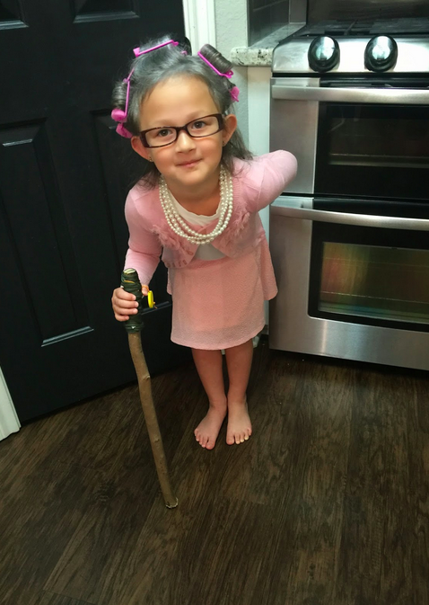 DIY Grandma costume